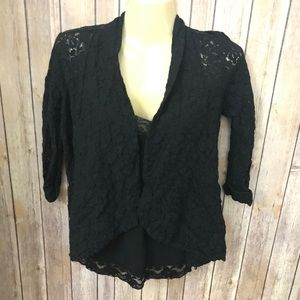Wet seal black laced cardigan